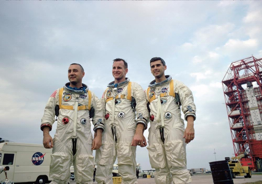 "Virgil I. ""Gus"" Grissom, Edward H. White II, and Roger B. Chaffee"